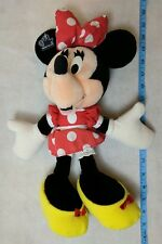 Disney Minnie Mouse Plush w/ Red Polka Dot Dress, Yellow Shoes by Applause