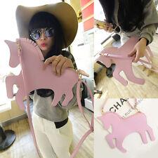 Cute Girls Womens Unicorn Horse Clutch Handbag Crossbody Shoulder Bag Coin Purse