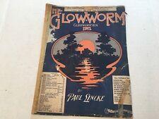 """Vintage Sheet Music """"The Glow-Worm"""" """"Gluhwurmchen"""" 1902 Paul Lincke"""