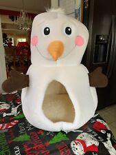 Frosty The Snowman Dog Cat Pet Hut Fleece Soft Igloo Bed Travel Basket Rare NWT