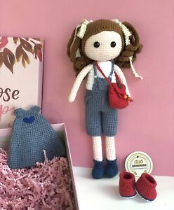 Crochet Doll Lily- Doll With Removable Clothes