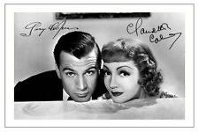 GARY COOPER CLAUDETTE COLBERT  SIGNED PHOTO PRINT BLUEBEARD'S EIGHTH WIFE