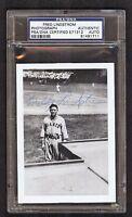 Fred Lindstrom {1905-1981} New York Giants Signed Photo PSA/DNA
