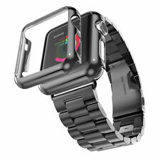 Metal Stainless Steel Link Band Strap/Frame Housing Case for Apple Watch 42/38mm