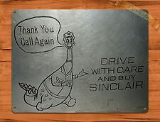 "TIN SIGN ""Sinclair Silver"" PRINT, NOT STEEL Garage Wall Decor"