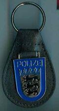 Polizei:Schluesselanh.a.Leder:Baden-Württ.blau.1 Stück