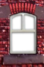 LC06a - Laser cut Curved Top Windows O scale pk of 6 Smart Models