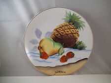 Vintage Ucagco Japan Hitomi Fruit Collector Plate Pineapple Pear Strawberry