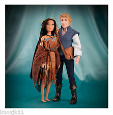NEW Disney Set (2) DESIGNER COLLECTION POCAHONTAS & JOHN SMITH BARBIE DOLL NIB!