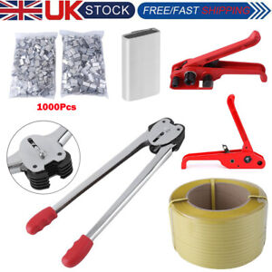 Heavy Pallet Parcel Strapping Packing Machine Kit Banding Roll 1003 Seals Clips