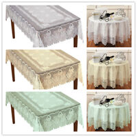 Vintage Lace Tablecloth Dining Table Cloth Cover Wedding Party Home Decor Floral