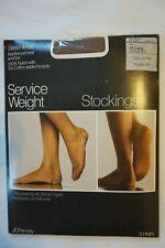 Vintage Nylon Stockings Size 10 - Long Suntan Service Weight Jc Penney's 3 Pair