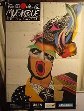 AFFICHE  FETE DE LA MUSIQUE 1993  GRAPHISME MONTAGE