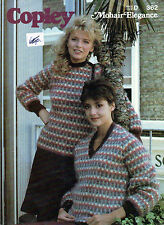 ~ Knitting Pattern For Lady's Colourwork Mohair Sweaters ~