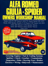 ALFA ROMEO SHOP MANUAL SERVICE REPAIR BOOK OWNERS WORKSHOP SPIDER GIULIA 62-79