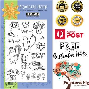 Woodland Creatures Stamps - Fairy, Raccoon, Beaver, Squirrel, Mushrooms