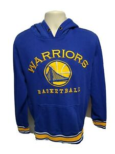 Unk Nba Golden State Warriors Basketball Adult Medium Blue Hoodie Sweatshirt