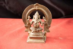 Indian Mughal Bronze Ganesha Said to be 16th C Mughal Dynasty(Akbar 1556-1605)