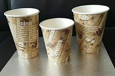 More details for 500 x 12oz/360ml disposable single wall printed paper cups for hot & cold drink