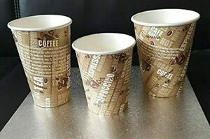 12oz/360ml Disposable Coffee Cups Single Wall Printed Cups for Hot & Cold Drink