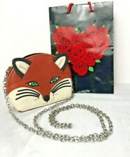 Brighton Menagerie FREDA FOX Purse Pouch Bag Leather Crossbody MSRP $125 Newt
