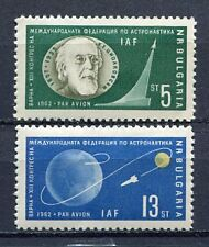 33717) BULGARIA 1962 MNH** AM Int Astronautical Fed. 2v
