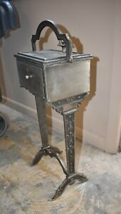 Steampunk Antique Art Deco Steel Smoke Cigar Stand, Table