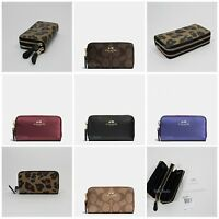 New Coach Small Double Zip Coin Case F63975 With Gift Box