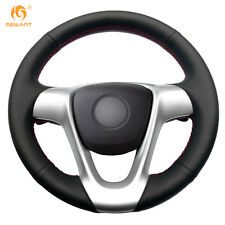 Black Leather Steering Wheel Cover for Smart Fortwo 2009-13 Forjeremy 2013 #BA91