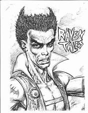 RAVEN TALES by Sam Park and Kerry Gammill - story outline & 3 full page illos