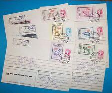 UKRAINE 1991 Série Animaux sur Lettres Recommandées