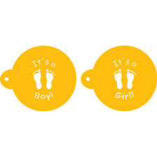 "Designer Stencils Decorating Cupcake Stencil, It's a Boy/Girl Cookie Top 3.5"""