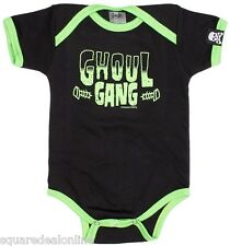 86302 Black & Green Ghoul Gang One Piece Sourpuss Punk Monster Bolts (12-18M)