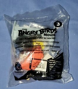 Angry Birds Movie McDonald's Happy Meal Toy # 3 Bomb Character Launchep