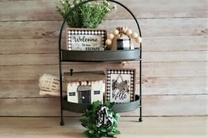 Tiered TrayCottage Welcome5 piece set/ BowlFiller / Farmhouse