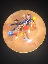 Norman Rockwell Collector Plate Amer. Family At The Circus Grandparents Kids 8.5