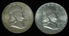 1963D 1963P - FRANKLIN HALF DOLLAR - SILVER - UNC CONDITION