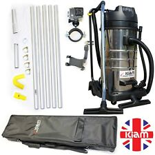 ALL IN ONE GUTTER CLEANING BUSINESS PACKAGE Vac, 20' poles, nozzles, camera, bag