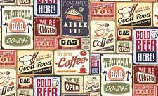 Retro Tapete Rockabilly Bistro Amerika 50er Nostalgie Kaffee Cafe Küche Bar USA