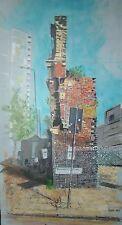 Le mur, Brick Lane, Londres, Angleterre. Acrylique PEINTURE À Bord, Floated FRAME.