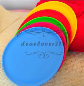 Colorful Silicone Dog Frisbee Training Exercising Prevent Depression Toys