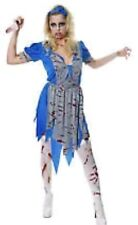 Adult Zombie Horror Blood Stained Alice Halloween Fancy Dress Outfit