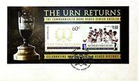 """2014 FDC Australia. The Urn Returns. M.S. """"Ashes Urn"""" Pict.FDI """"SYDNEY"""""""
