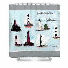 NC Lighthouse shower curtain Bath decor,Beach gifts,Beach house decor,beach art
