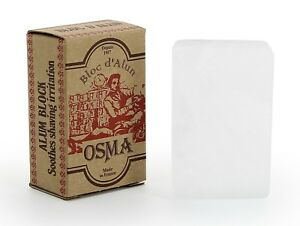 BLOC OSMA  Alaun-Block 75g Alaunstein Blutstiller Deodorant 100% Kaliumalaun
