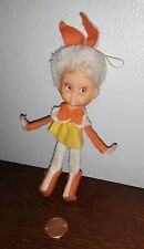"Vintage Rene D. Lyon Co., Inc. Fairy Elf Poseable Wire & Fabric 6.5"" Figure"