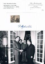 """Bulgaria Diplomat Petar Mezhdurechki 1934- autograph signed card 3""""x5.5"""""""