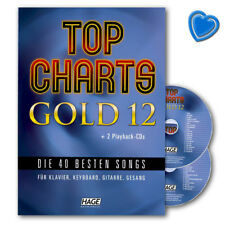 Top Charts Gold 12 -Songbook mit 2CDs - EH3966 - 9783866264441