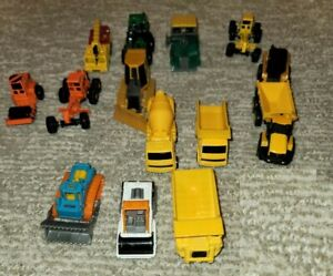 Mix Lot of 14 ERTL Maisto Matchbox Siku Tonka Die-Cast Trucks Road Construction