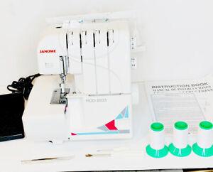 Janome Serger Sewing Machine 8933D Overlock Open Box